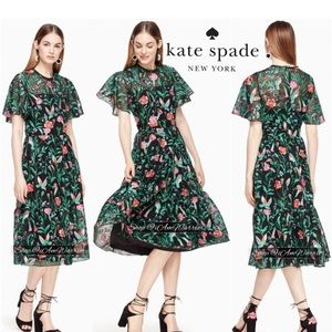 Kate Spade NWT lace hummingbird dress